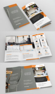 Design Sleek, High-End Marketing Tri-Fold Brocure For with E Brochure Design Templates