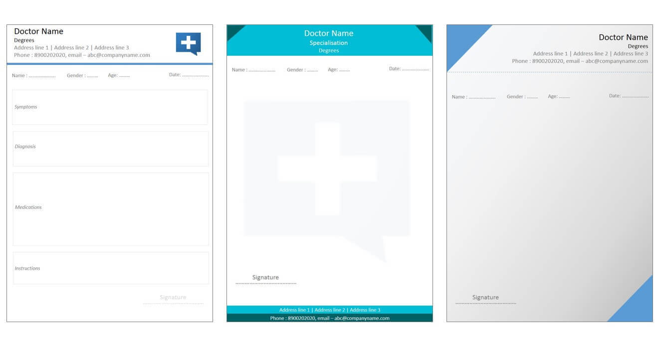 Designs For Medical Prescription Template – Indoclinic Blog Pertaining To Doctors Prescription Template Word