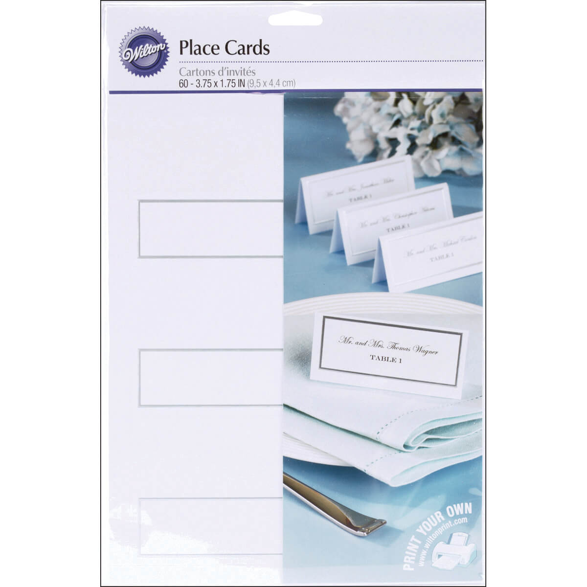 Details About Place Cards White With Silver Border For Imprintable Place Cards Template