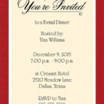Dinner Invitation Template Free   Places To Visit   Dinner Within Free Dinner Invitation Templates For Word