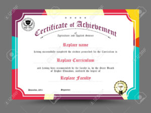 Diploma Certificate Template Design. Vector Illustration. in Design A Certificate Template