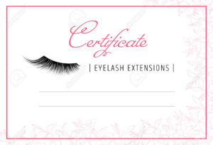 Diploma Eyelash Extensions. Makeup Certificate Template. Beauty.. throughout Fake Diploma Certificate Template