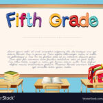 Diploma Template For Fifth Grade Students Throughout 5Th Grade Graduation Certificate Template
