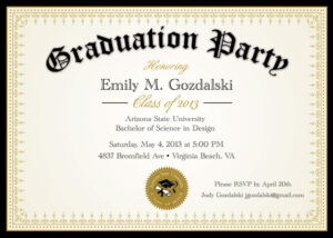 Diploma+Graduation+Party+Invitations++Grad+By+ Throughout College Graduation Certificate Template
