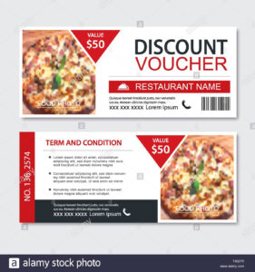 Discount Gift Voucher Fast Food Template Design. Pizza Set Regarding Pizza Gift Certificate Template