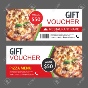 Discount Gift Voucher Fast Food Template Design. Pizza Set. Use.. Regarding Pizza Gift Certificate Template