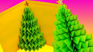 Diy 3D Christmas Tree Pop-Up Card – Greeting Card pertaining to 3D Christmas Tree Card Template
