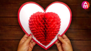 Diy 3D Heart ❤️ Pop Up Card | Valentine Pop Up Card regarding 3D Heart Pop Up Card Template Pdf