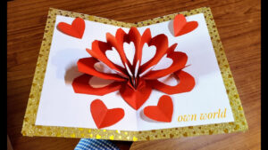 Diy 3D Heart ❤️ Pop Up Card | Valentine Pop Up Card throughout 3D Heart Pop Up Card Template Pdf