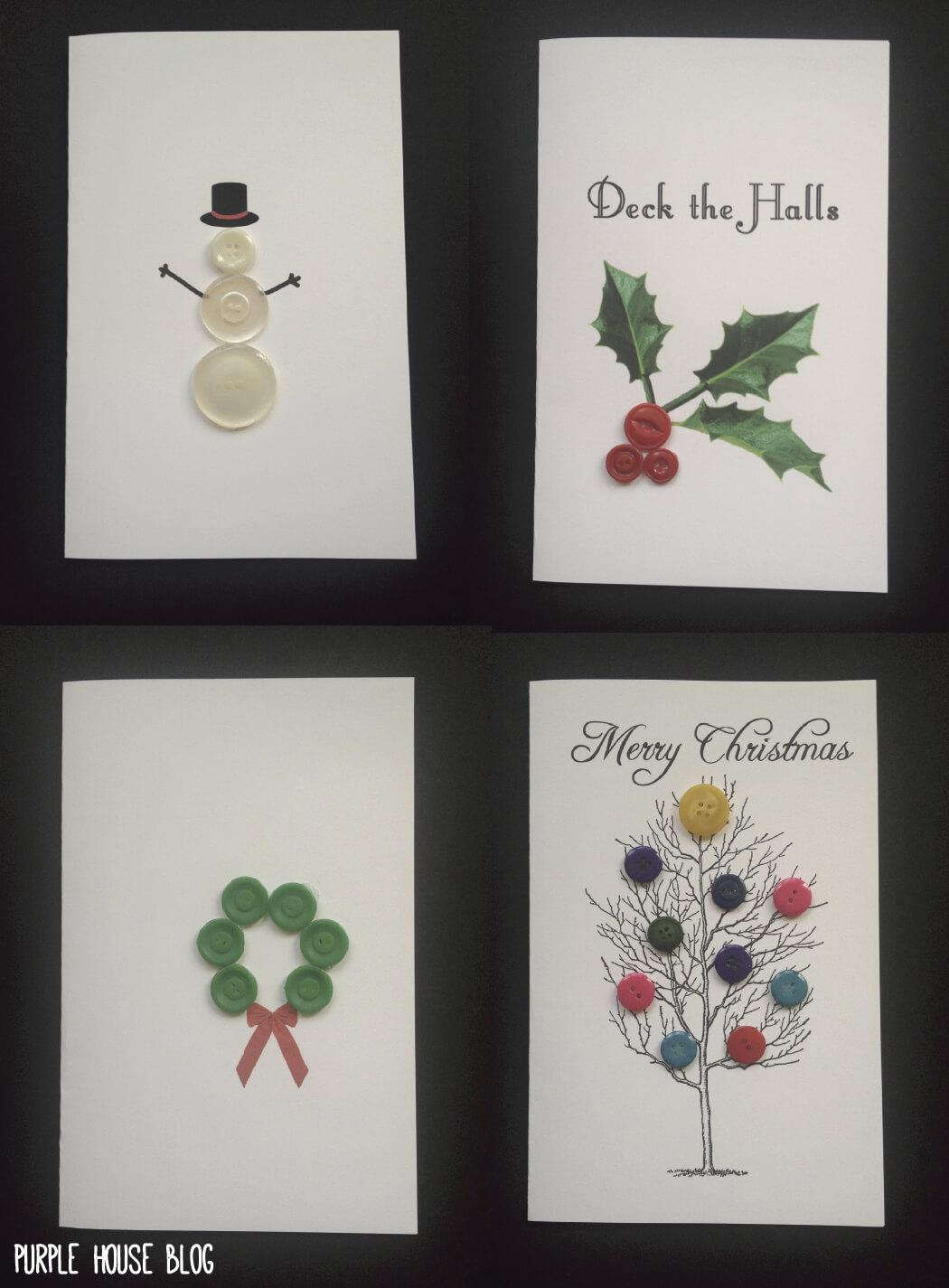 Diy Button Holiday Cards With 8 Free Downloadable Templates Pertaining To Diy Christmas Card Templates