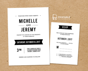 Diy Free Pdf Printable Wedding Invitation And Rsvp | Wedding regarding Free Printable Wedding Rsvp Card Templates