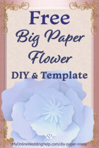 Diy Giant Paper Flowers – My Online Wedding Help inside Recollections Card Template