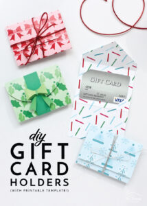 Diy Gift Card Holders (With Printable Template!) | The Homes with regard to Homemade Gift Certificate Template