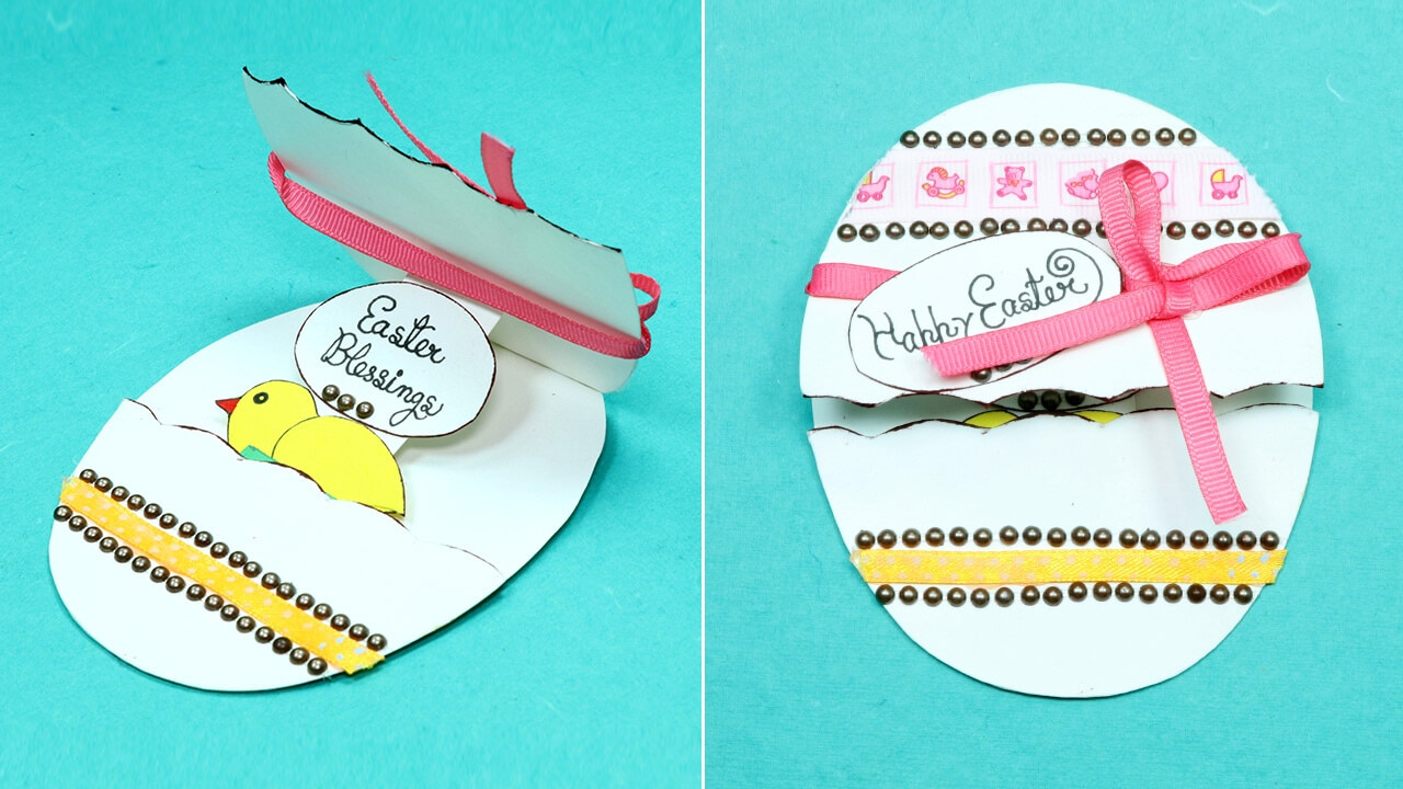 Diy Handmade Easter Card - Pop Up Easter Egg Card Regarding Easter Card Template Ks2