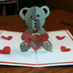 Diy – How To Make A Teddy Bear Pop Up Card |Paper Crafts Handmade Craft   Mother'S Day Card! For Teddy Bear Pop Up Card Template Free