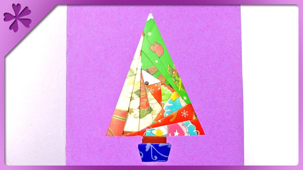 Diy Iris Folding Christmas Card (Eng Subtitles) - Speed Up #152 Throughout Iris Folding Christmas Cards Templates