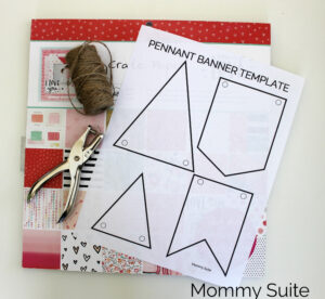 Diy Paper Pennant Banner (W/ Free Template) – Mommy Suite with Homemade Banner Template