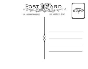 Diy Postcard Save The Date Back   Wedding Stationary   Diy in Free Blank Postcard Template For Word
