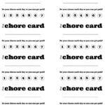 Diy Printable Kid S Chore Punch Card   Kid Stuff   Chore Throughout Reward Punch Card Template