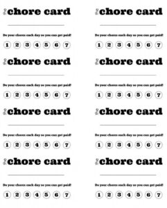 Diy Printable Kid S Chore Punch Card | Kid Stuff | Chore with Free Printable Punch Card Template