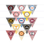 Diy Printables! Pennants Collegiate Tailgate Digital Intended For College Banner Template