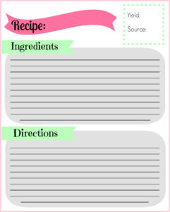 Diy Recipe Binder | Pocketful Of Motherhood throughout Full Page Recipe Template For Word