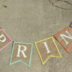 Diy Spring Burlap Banner With Free Banner Template – The Intended For Diy Banner Template Free