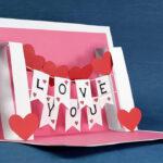 Diy Valentine Card – Handmade I Love You Pop Up Card In I Love You Pop Up Card Template