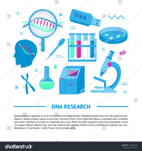 Dna Research Medical Banner Template Flat Stock Vector throughout Medical Banner Template