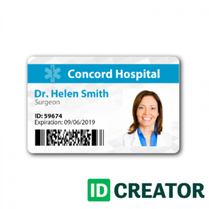 Doctor Id Badge Same Day Shipping From Idcreator | Pictureicon intended for Doctor Id Card Template