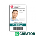 Doctor Id Card #2 | Wit Research | Id Card Template with Work Id Card Template