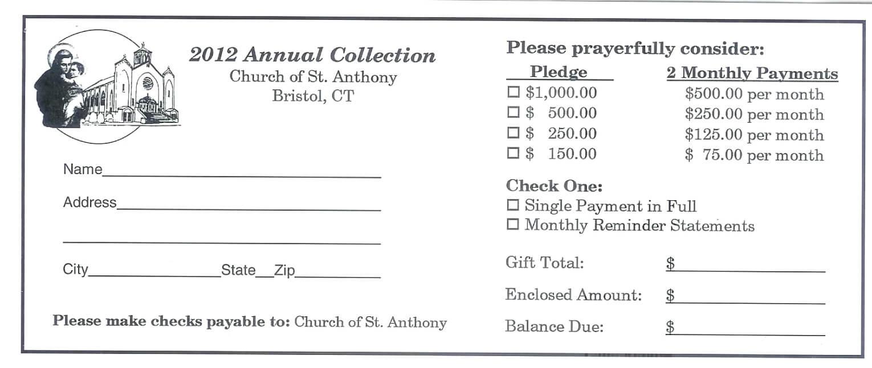 Donation Card Template Penaime Com (Donation Card Template Intended For Free Pledge Card Template