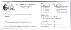 Donation Card Template Penaime Com (Donation Card Template pertaining to Church Pledge Card Template