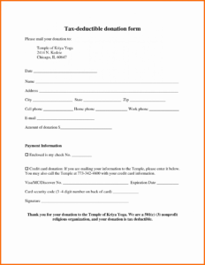 Donation Form Template Income Tax Free Word For Nonprofit with regard to Donation Card Template Free