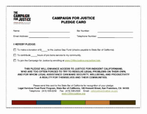 Donor Pledge Card Template | Template Modern Design for Donation Cards Template