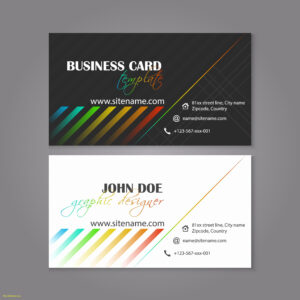 Double Sided Business Card Template Illustrator Lovely inside Double Sided Business Card Template Illustrator
