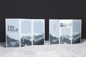 Double-Sided Tri-Fold Brochure Psd Mockup | Brochure Mockups inside Double Sided Tri Fold Brochure Template
