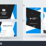 Doublesided Creative Business Card Template Portrait Stock Regarding Portrait Id Card Template