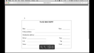 Download Blank Printable Taxi/cab Receipt Template | Excel within Blank Taxi Receipt Template