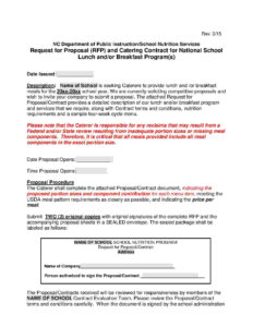 Download Catering Contract Style 1 Template For Free At within Catering Contract Template Word