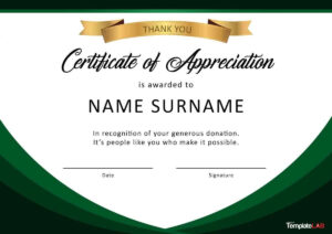 Download Certificate Of Appreciation For Donation 02 with regard to Free Certificate Of Appreciation Template Downloads