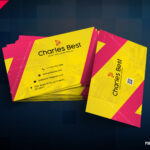 Download] Creative Business Card Free Psd   Psddaddy Pertaining To Business Card Size Template Psd