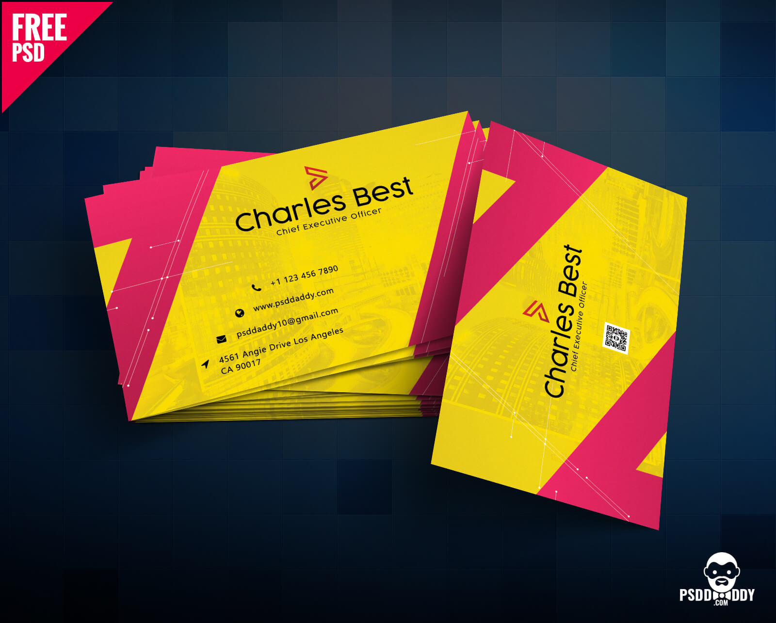 Download] Creative Business Card Free Psd | Psddaddy Pertaining To Business Card Template Photoshop Cs6