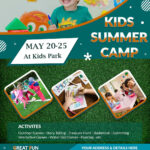 Download Free Great Fun Kids Summer Camp Flyer Design Templates With Summer Camp Brochure Template Free Download
