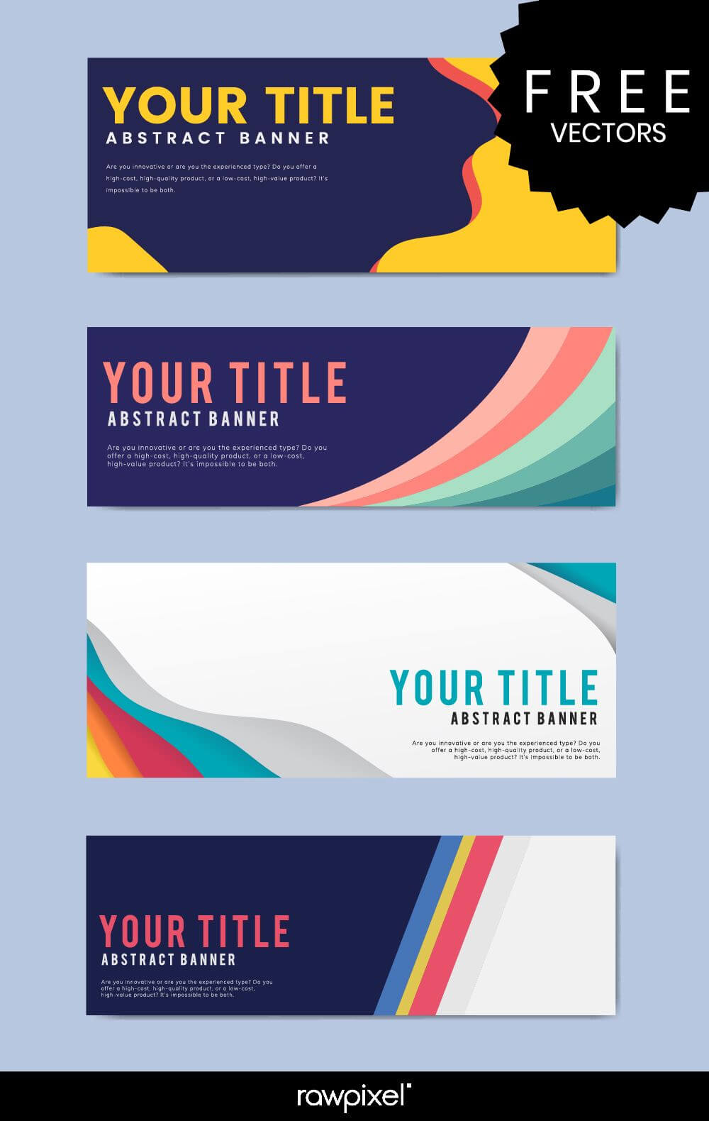 Download Free Modern Business Banner Templates At Rawpixel With Regard To Website Banner Templates Free Download