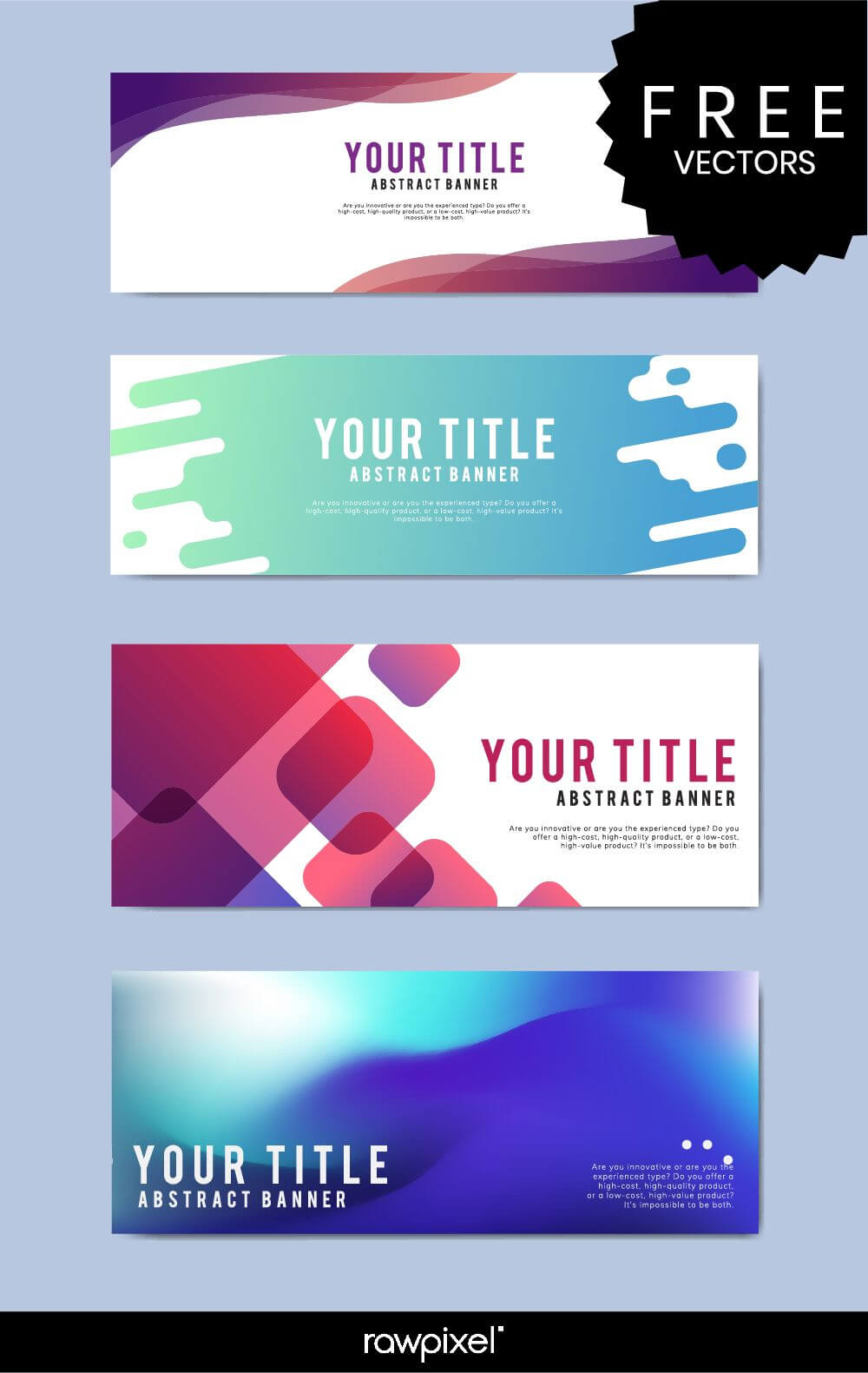 Download Free Modern Business Banner Templates At Rawpixel within Website Banner Templates Free Download