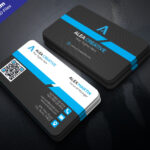 Download Free Modern Business Card Design Psd Template Within Modern Business Card Design Templates