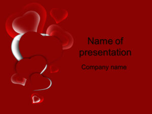 Download Free Red Heart Powerpoint Template For Your within Valentine Powerpoint Templates Free