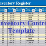 Download Inventory Control Excel Template - Exceldatapro throughout Stock Report Template Excel