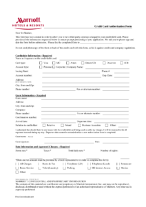 Download Marriott Credit Card Authorization Form Template pertaining to Hotel Credit Card Authorization Form Template